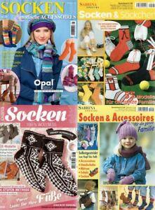 4 Zeitschriften Stricken Strickhefte - SOCKEN * Söckchen - Accessoires