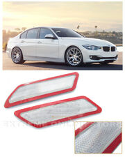 For 12-15 BMW F30 F31 3-Series Crystal CLEAR Bumper Reflector Side Marker Lights