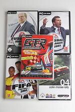 5 PC CD ROM DVD Spiele Sport Fußball Football Autorennen Reiner Calmund