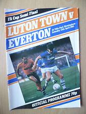 1985 FA CUP SEMI FINAL- LUTON TOWN v EVERTON, 13th April