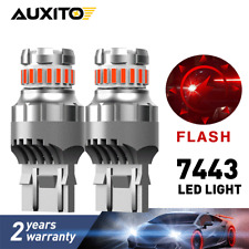 7440 7443 T20 Red LED Strobe Flash Blinking Brake Tail Light/Parking Bulbs 2f