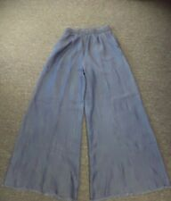 IMPERIAL Blue Lyocell Casual Elastic Waist Denim Wide Leg Pants Size S EE4545