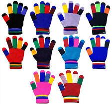 Children's Kids Magic Gloves Colourful Fingers Boys Girls Winter Warm One Size