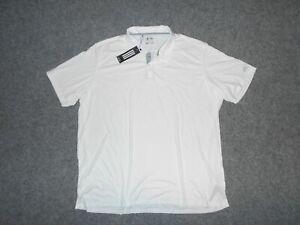 ADIDAS AE7990 NEW! W/TAGS MENS XXXL 3XL WHITE ATHLETIC POLO SHIRT             K3