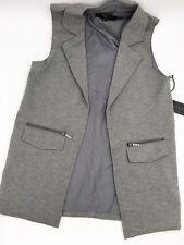 Versace 1969 ITALIA Women's Gray Vest Business Formal