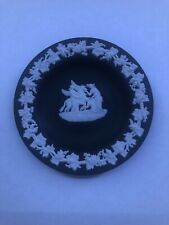 "RARE Wedgewood Black Jasperware Muses & Pegasus 4"" Cream Trim Made In England"