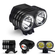 6000LM 2LED Fahrradlampe Scheinwerfer CREE Fahrradlicht MTB Radfahren Licht Akku