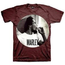 Bob Marley Smoking Reggae Official Tee T-Shirt Mens Unisex