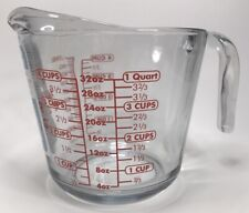 Anchor Hocking Clear Glass Measuring Cup 4 cup 32oz quart liter mL bowl