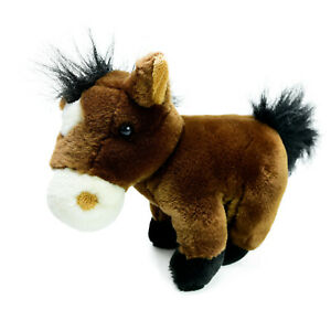 Korimico Brown Horse Pony Plush Soft Stuffed Animal Toy Washed and Clean 20cm