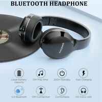 Wireless Bluetooth Headphones Stereo Super Bass Foldable Audio Headset with Mic