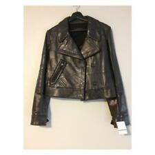 New! Retail $3,895 Calvin Klein Collection Textured Leather Leather Jacket (Size