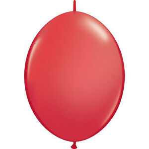 "**HELIUM QUALITY BALLOONS** Pack of 25 - 12"" Red Quick Link Latex Balloons!"