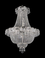 9LT 30x24 FRENCH EMPIRE CRYSTAL CHANDELIER LIGHTING FIXTURE PENDANT CEILING LAMP