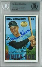 Bill Moose Skowron 2001 Topps Archives #126 Yankees Signed Auto Bgs