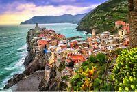250 Pieces Wooden Jigsaw Puzzle / Italian Coastal Balcony