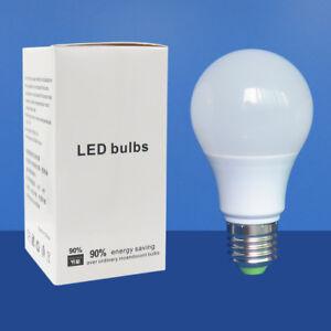 30x 60W Equivalent E27 A60/A19 LED Light Globe Bulb Lamp 12-24V/85-265V #T