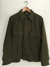 Vintage Olive Army Field CPO Shirt Jacket 1950s Perfect Size Medium Made In USA