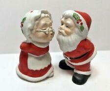 Set of Lefton Porcelain Figurines Kissing Mr. & Mrs. Claus - # 05014