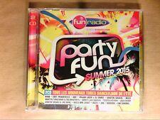 BOITIER 2 CD / FUN RADIO PARTY FUN SUMMER 2015 / NEUF SOUS CELLO