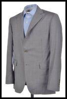 BESPOKE Gray End on End Wool Mens Blazer Sport Coat Jacket - Custom 42 R