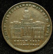 1837 Hard Times Token Merchants Exchange New York City HT 293