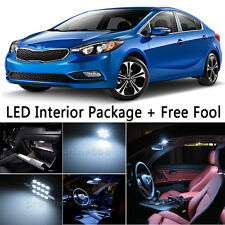6X Bulb Car LED Interior Light Package kit For 2014-up KIA Forte White+ tool  NQ