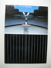 Rolls Royce Silver Spirit Spur Camargue Corniche brochure Prospekt English c1983