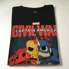 NEW Funko Pop Captain America Civil War T-Shirt Marvel Collectors Corp Medium