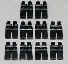 LEGO LOT OF 10 NEW BLACK MINIFIGURE LEGS PANTS WITH CHAIN BELT AND POCKETS