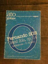 Fernando Sor grand solo opus 13 partition pour guitare éditions Transatlantiques