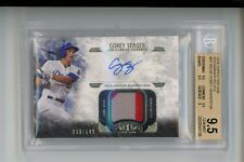 BGS 9.5 2016 Topps Tier One 10 AUTO/PATCH Corey Seager RC #d 68/149 DODGERS OT