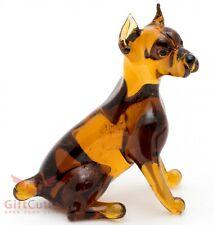 Art Blown Glass Figurine of the Miniature Pinscher dog