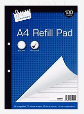 A4 Recarga Almohadilla 100 Hojas gobernado Forrado agujero de escritura-perforados de papel-WH3-R6C 041