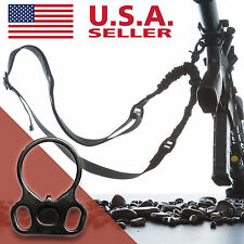 LONG Single Point Sling With Adapter Plate Mount Rifle Sling Tactical Bungee