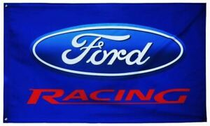 Flag - Ford Racing on Blue Flag * Show Your Ford Pride * Ships FREE To the USA!