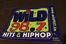 Wild 98.7 Sticker (Hits & Hip Hop) Memorabilia Tampa Bay