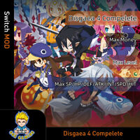 Disgaea 4 Complete+(Switch Mod)- Max Max Money/Level/SP/HP/DEF/ATK/INT/SPD/HIT