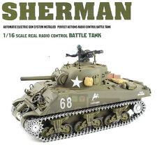 1/16 2.4G RC Henglong Smoke & Sound USA M4A3 ShermanTank Premier Vesion
