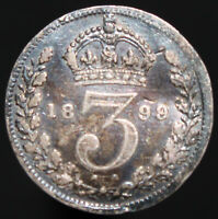 1899 | Victoria Threepence | Silver | Coins | KM Coins