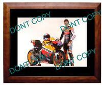 CASEY STONER 2011 HONDA MOTO GP STAR LARGE A3 PHOTO 1