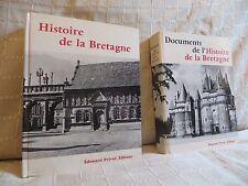 Histoire de la bretagne + vol. de documents par Delumeau chez Privat