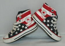 toddler Sz 6 Converse All Star Chuck Taylor high top tennis shoes American flag