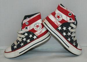 toddler Sz 6 Converse All Star Chuck Taylor high top tennis shoes American flag