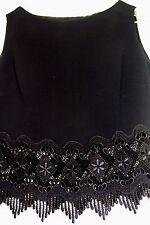 VALENTINO Italian designer 3pc. BLACK dress w/jacket  AND LACE