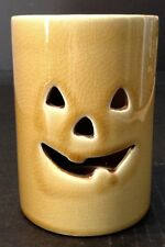 Ceramic Halloween Jack O Lantern Pumpkin Candle Holder Decoration