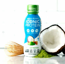 Iconic Grass Fed Protein Drink Coconut Matcha Flavor 11.5 oz ( Pack of 12 )
