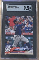 2018 TOPPS UPDATE #US250 RONALD ACUNA JR. BRAVES ROOKIE SGC 9.5 Comp PSA