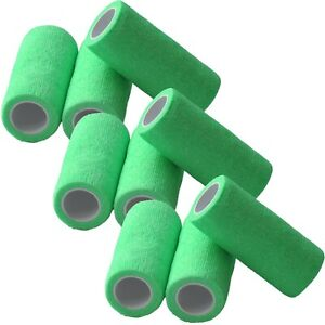 9 x selbsthaftende Haftbandagen Fixierbinde kohäsiv Bandage Verband 10cm x 2,8 m