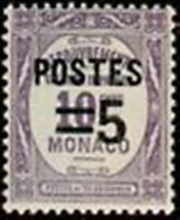 "MONACO STAMP TIMBRE N° 140 "" TIMBRES-TAXE SURCHARGE 5 C SUR 10 C ""  NEUF x TB"